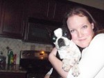 Heather and Pepper her Boston Terrier