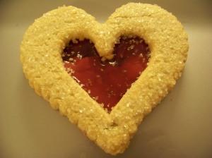 la Madeleine almond heart cookie