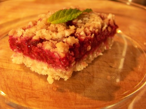 vegan raspberry bars