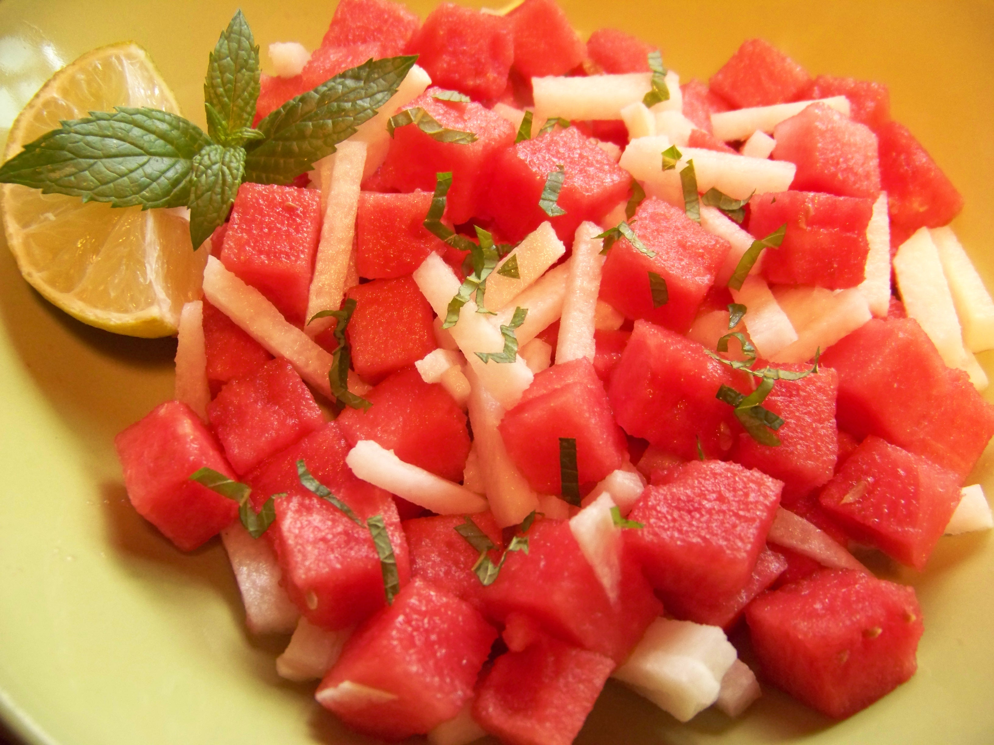 Watermelon Jicama Summer Salad | midnitechef