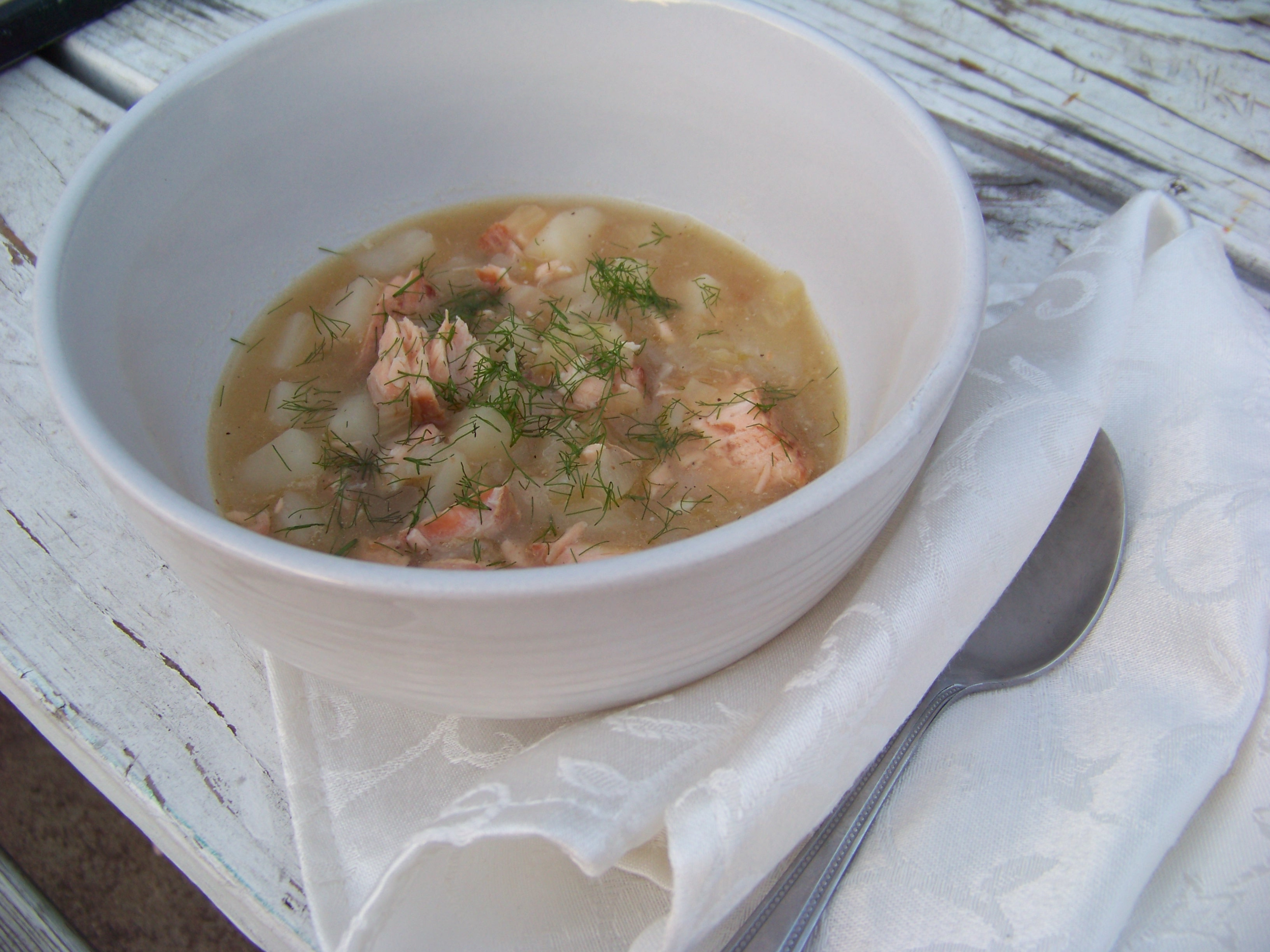 Gluten and Dairy Free Salmon Stew