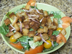 fried croutons for salad