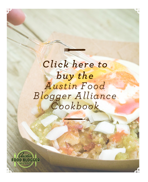 Austin Food Blogger Alliance Cookbook Pre-Sale
