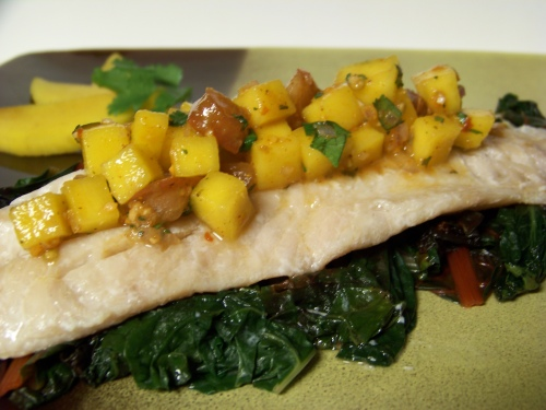 barrier reef seasoning - mango salsa on rockfish