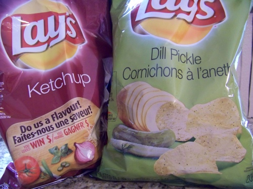 texas ketchup dill pickle chips