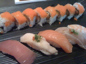 Sushi A lunch with Alaskan Roll