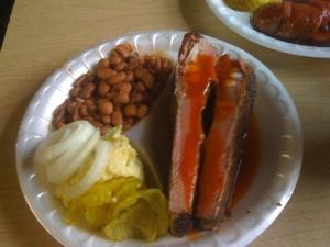 Rib BBQ Plate @ Taylor Cafe