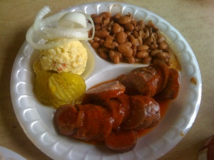 Turkey Sausage BBQ Plate @ Taylor Cafe